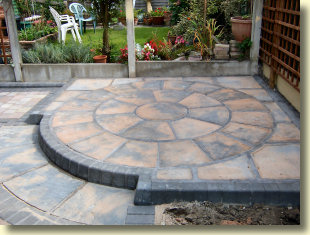 tubled block patio